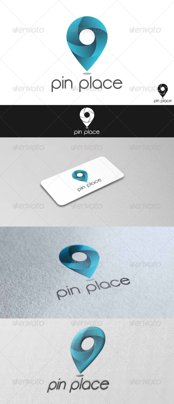 GraphicRiver Pin Place Logo 7666951