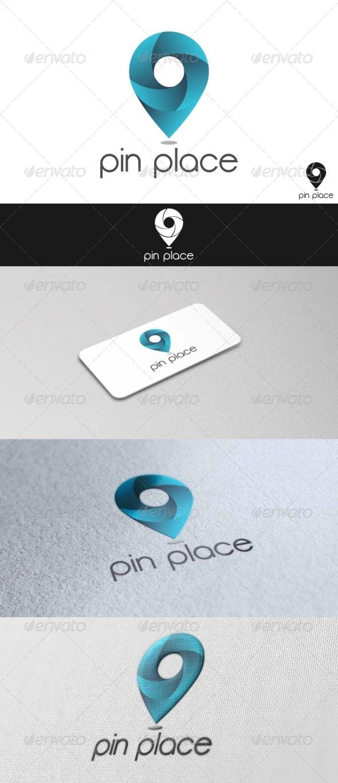 GraphicRiver Pin Place Logo 7666951