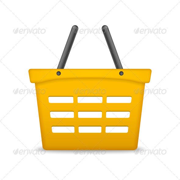 GraphicRiver Orange Shopping Basket 7700238