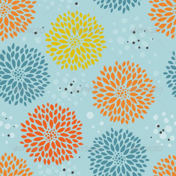 GraphicRiver Blue Floral Pattern 7700266