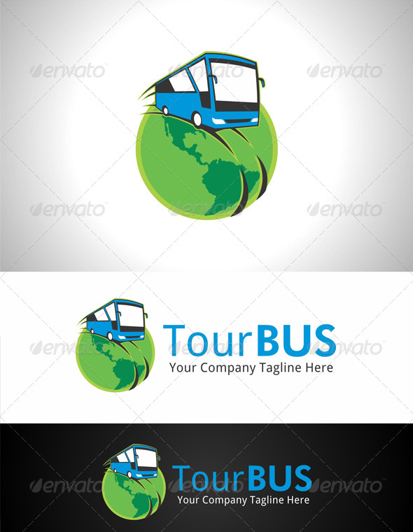GraphicRiver Tour Bus Logo 7700268