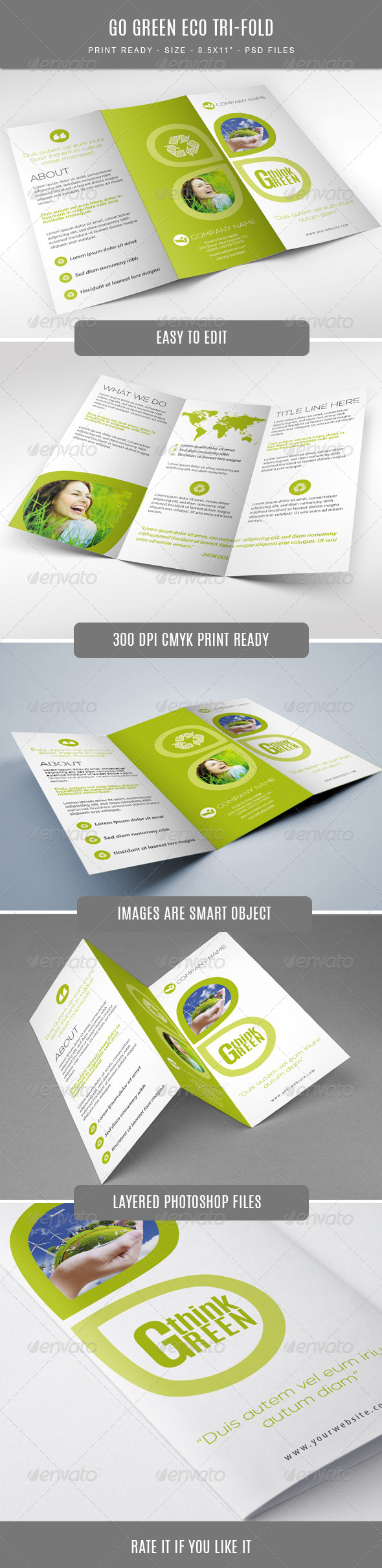 GraphicRiver Go Green Eco Tri-Fold Brochure 7700402