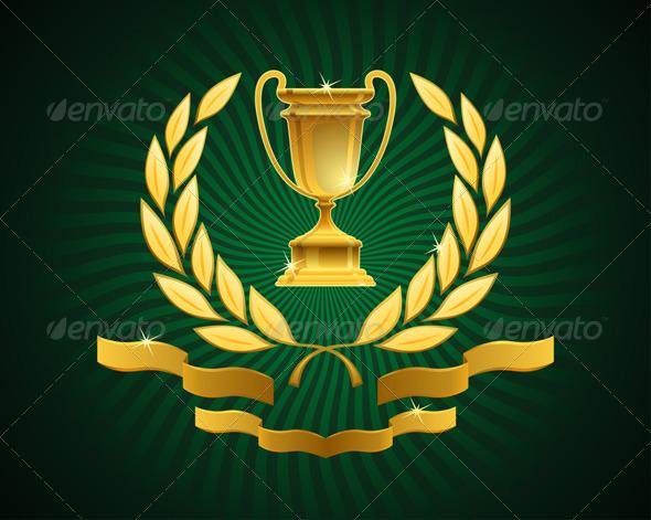GraphicRiver Golden Cup Emblem 7700447
