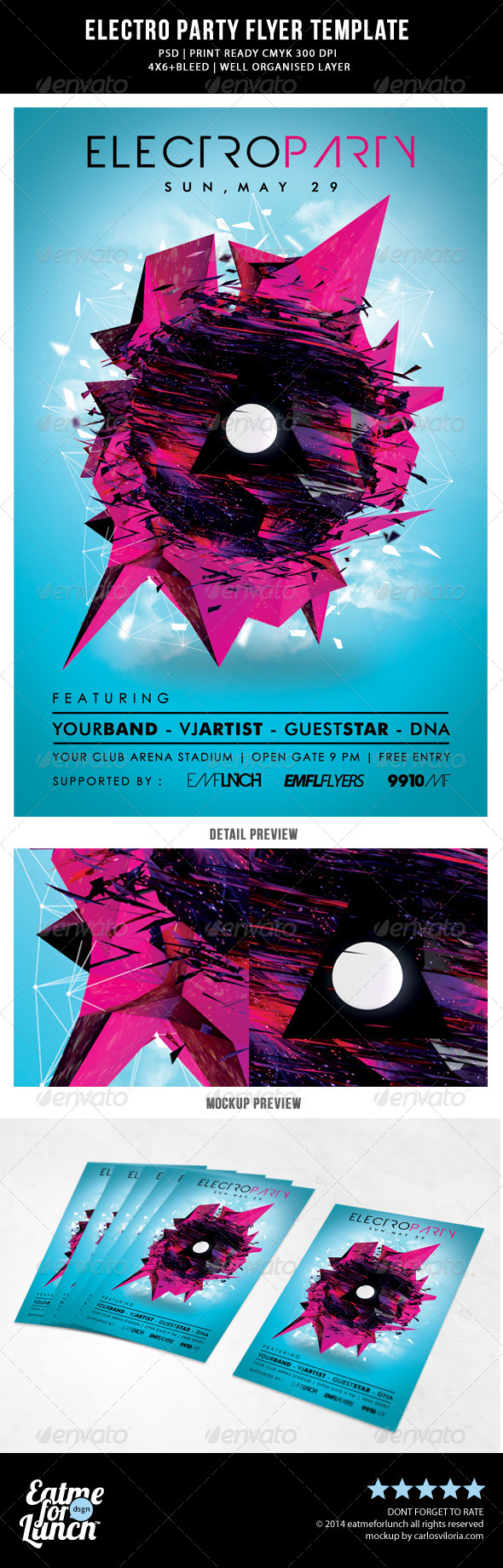 GraphicRiver Futuristic Abstract Electronic Dance Music Flyer 7700562