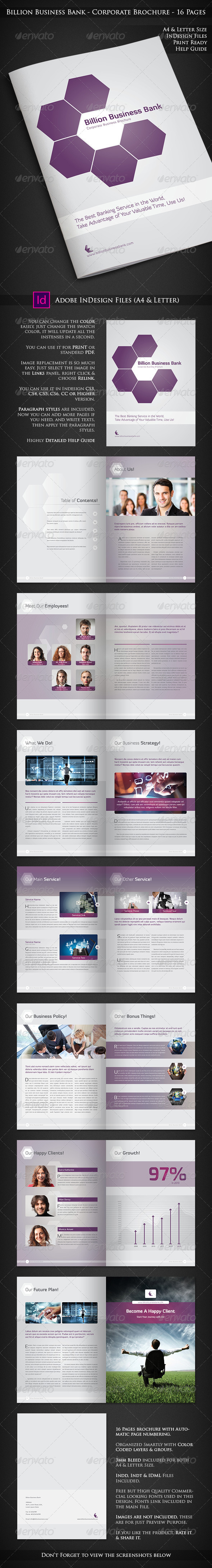Billion Business Bank - 16 Pages Brochure - Corporate Brochures