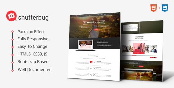 ThemeForest Shutterbug Multipurpose HTML Template 7645964