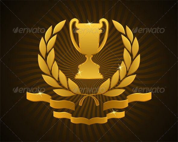 GraphicRiver Golden Cup Emblem 7700635