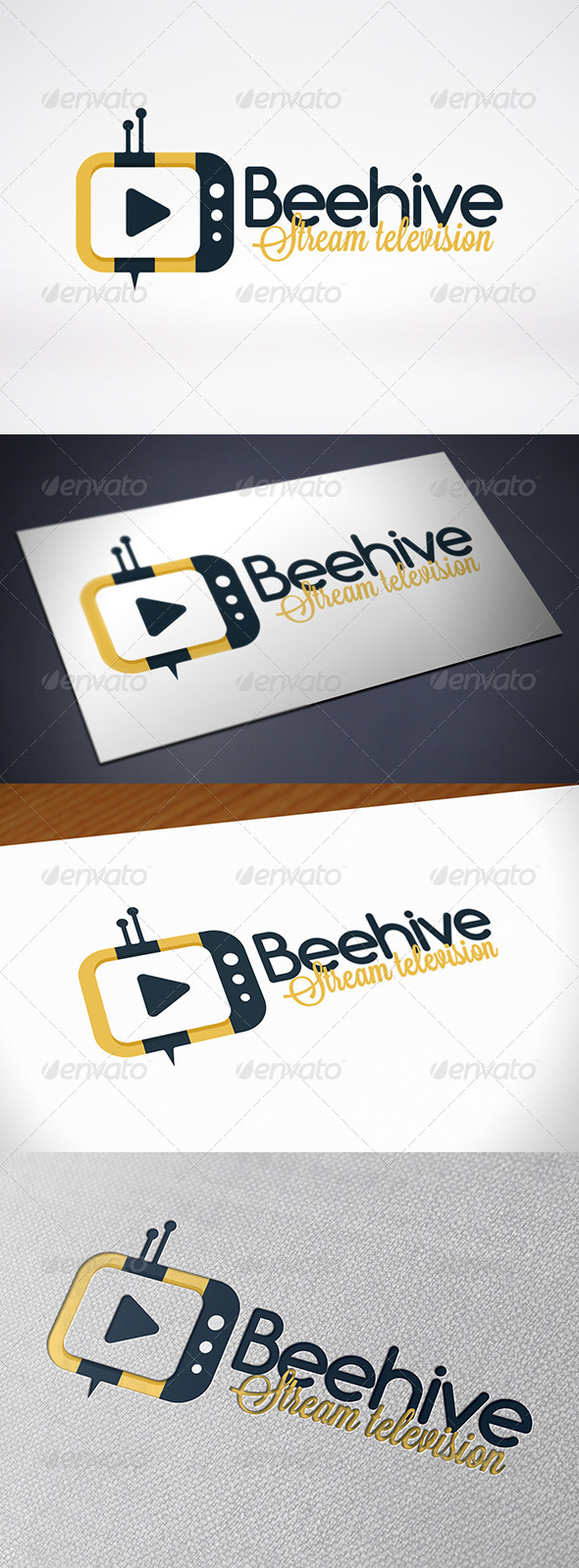 GraphicRiver Bee Tv Logo Template 7700666