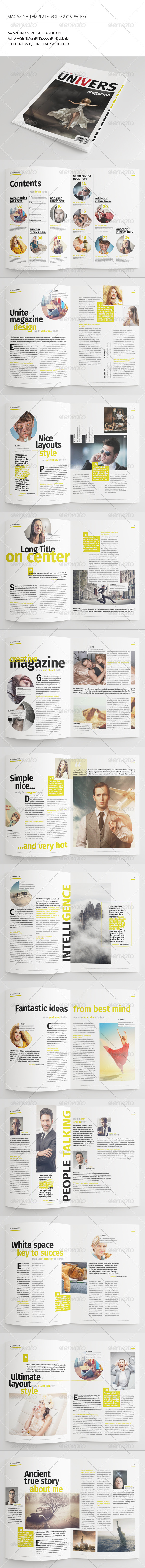 GraphicRiver 25 Pages Universal Magazine Vol52 7700669