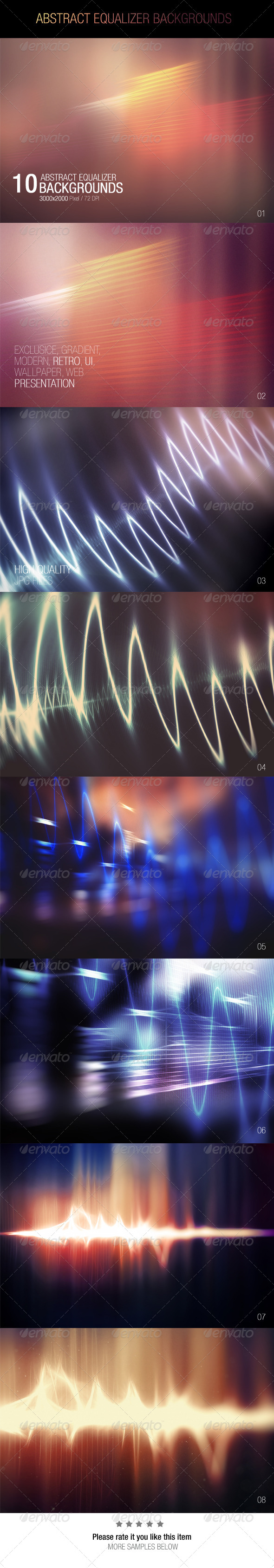 GraphicRiver Abstract Equalizer Backgrounds 7700675