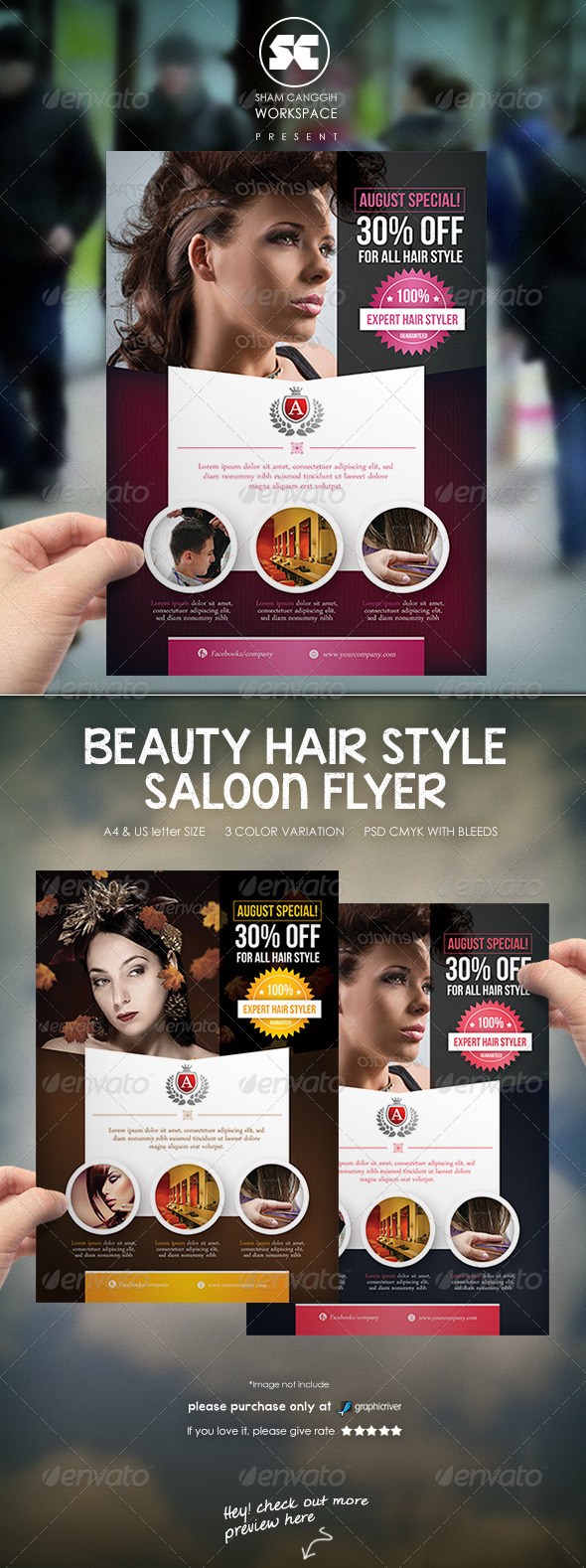 GraphicRiver Hair Style Saloon Flyer Magazine Ads 7700702