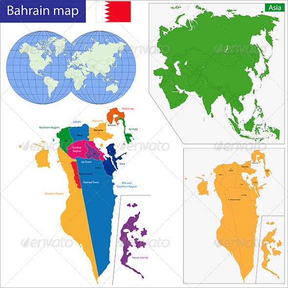 GraphicRiver Bahrain Map 7700844