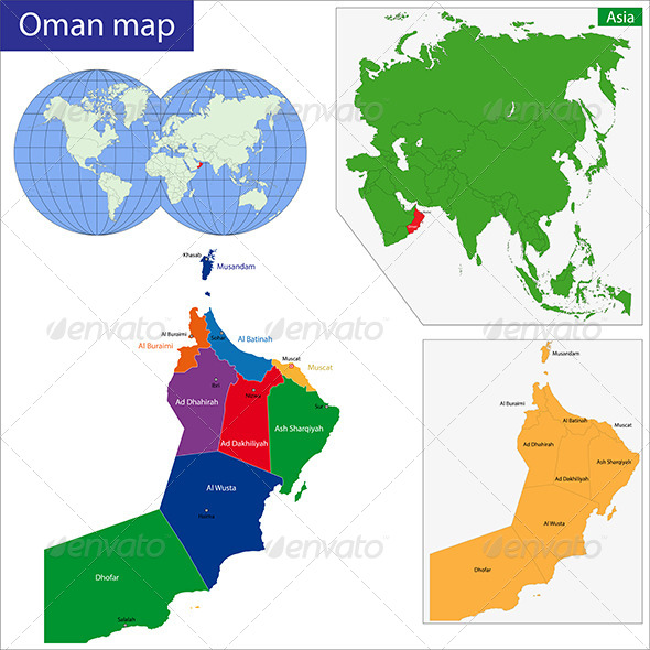 GraphicRiver Oman Map 7700893