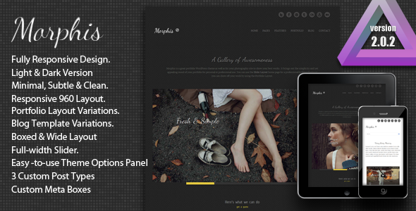 Morphis - Responsive WordPress Theme