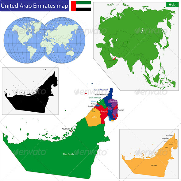 GraphicRiver United Arab Emirates Map 7700934