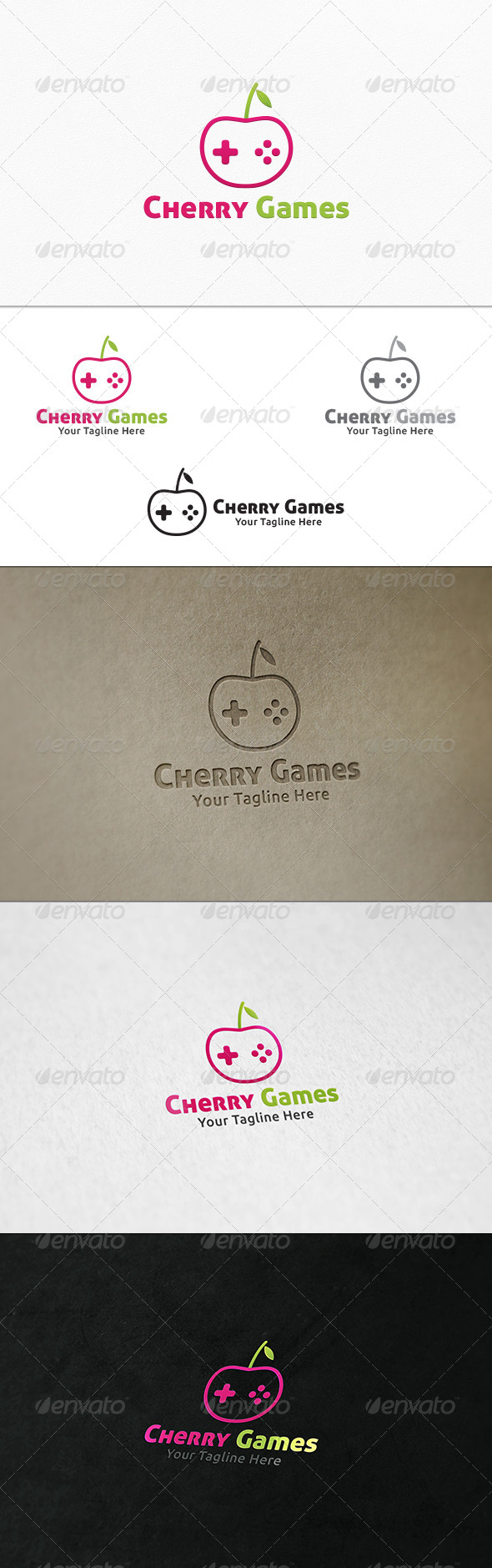 GraphicRiver Cherry Games Logo Template 7700949