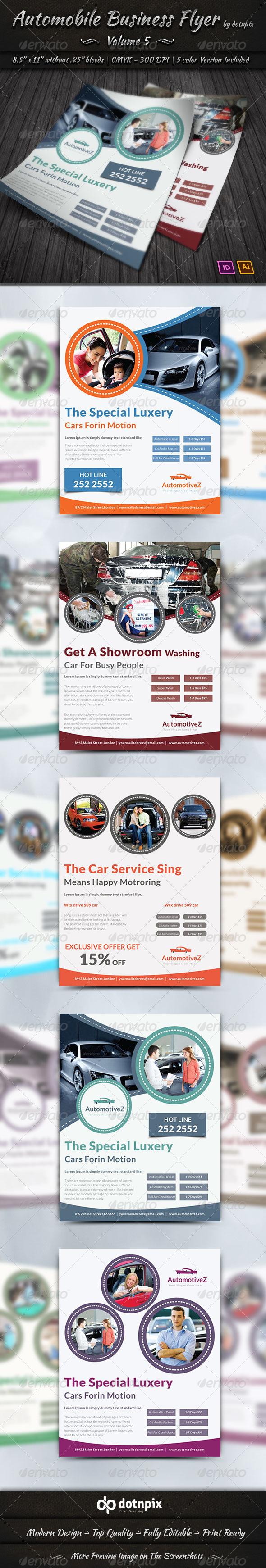 Automobile Business Flyer | Volume 5 - Corporate Flyers