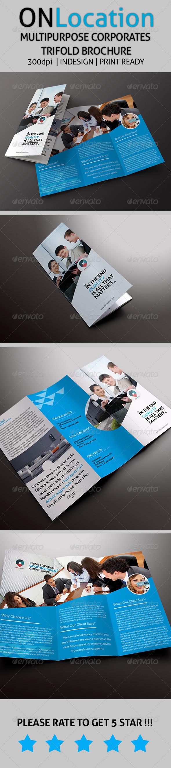 GraphicRiver OnLocation Corporate Trifold Brochure 7700996