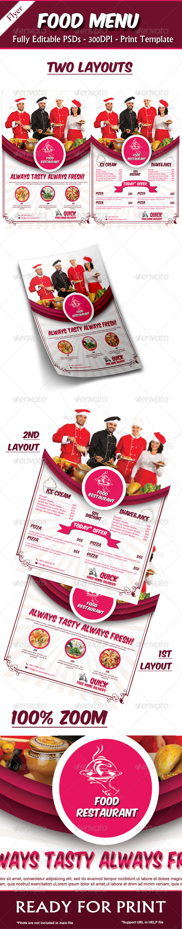 GraphicRiver Food Menu Tamplate 7701219
