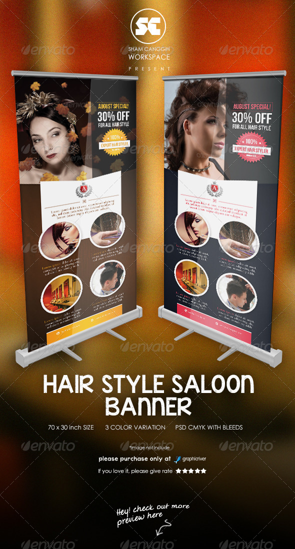 GraphicRiver Hair Style Saloon Banner 7701250
