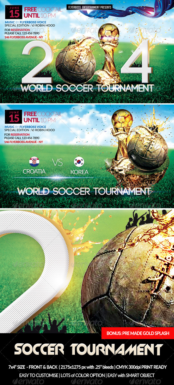 GraphicRiver Soccer Tournament-Front & Back 7663946