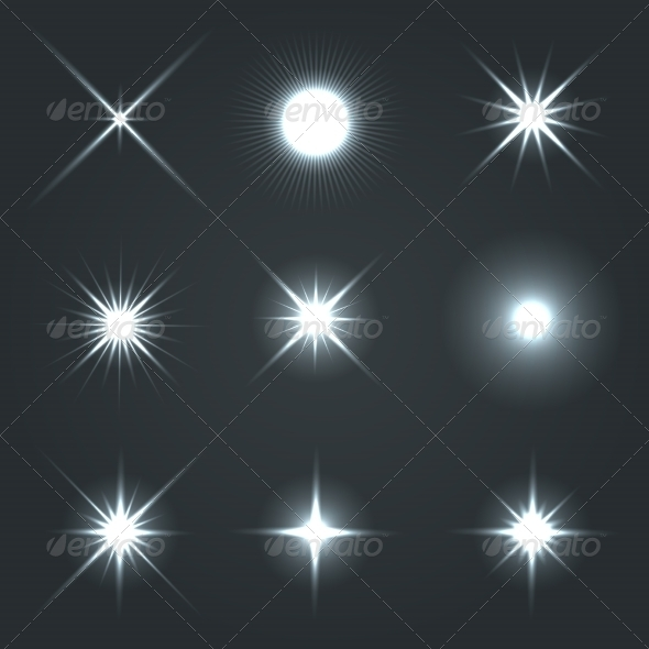 GraphicRiver Light Glow Flare Stars Effect Set 7701290