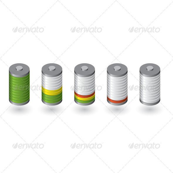 GraphicRiver Battery Level 7701314