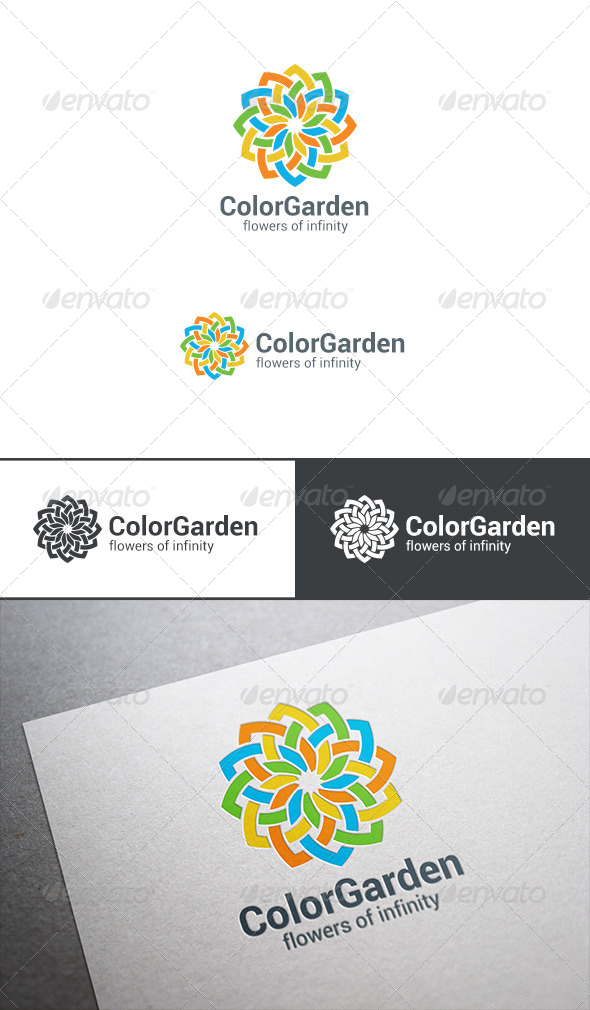 GraphicRiver Looped Infinity Abstract Flower Logo Design Template 7701505