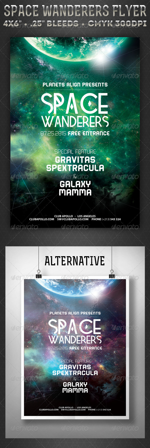 GraphicRiver Space Wanderers Flyer 7701526