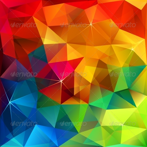 GraphicRiver Rainbow Colors Triangular Vector Pattern 7701668