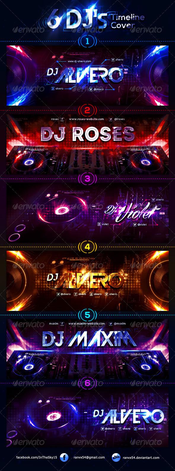 GraphicRiver 6 DJ s FB Timeline Cover 7701847