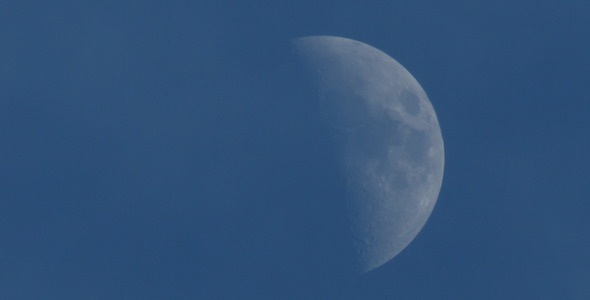 Waxing Moon By Day