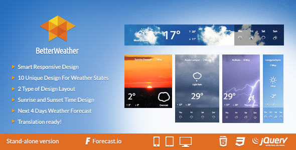 CodeCanyon BetterWeather Stand-alone 7702441