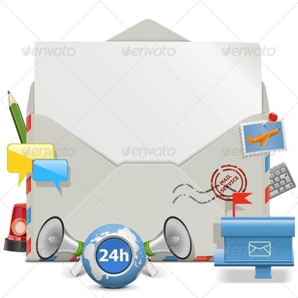 GraphicRiver Vector Contact Board 7702516