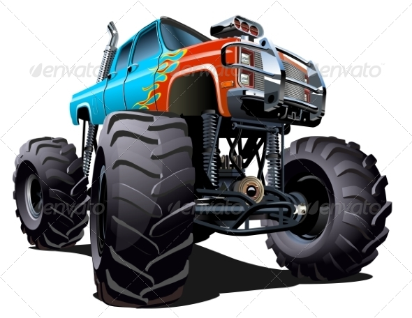 GraphicRiver Cartoon Monster Truck 7702515