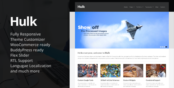 Hulk Business/Portfolio Wordpress Theme - Business Corporate