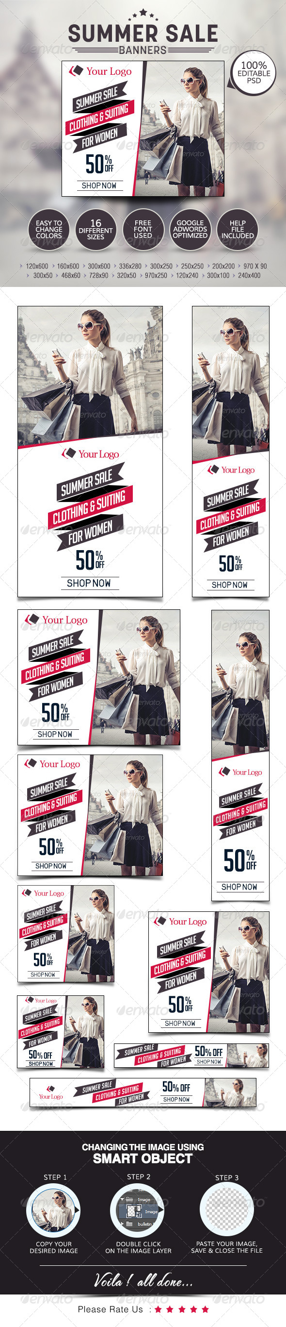GraphicRiver Summer Sale Banners 7678855