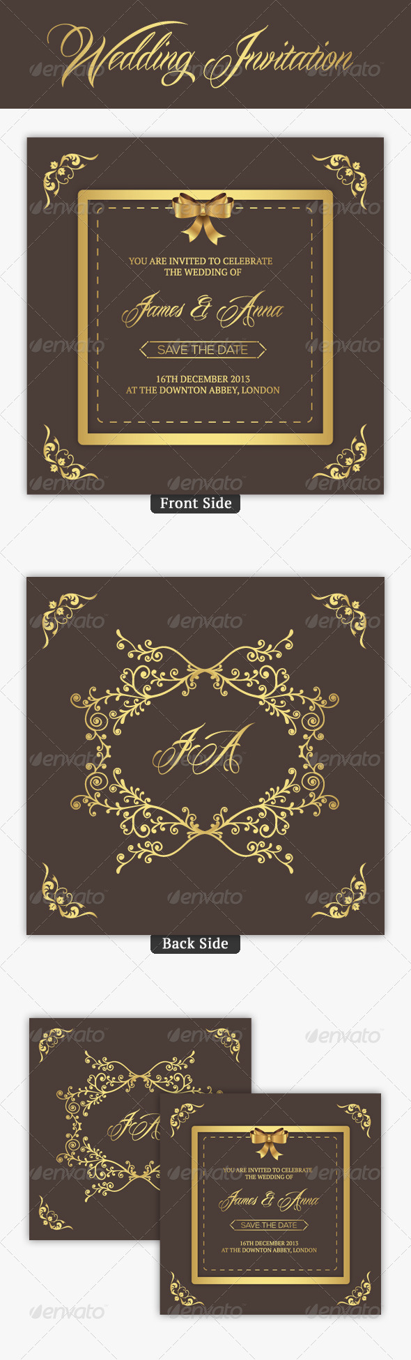 GraphicRiver Wedding Invitation 7702569