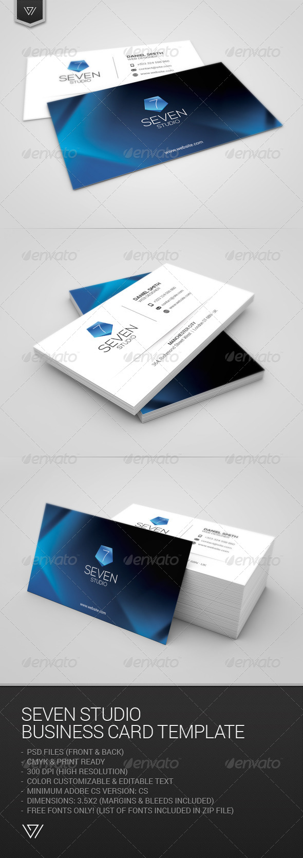 GraphicRiver Seven Studio Business Card 7702642