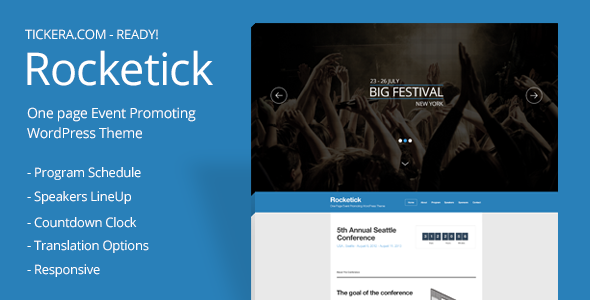 Rocketick - Responsive Events WordPress Theme