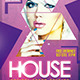 House Flyer DJ Template PSD