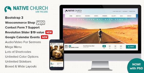 NativeChurch - Multi Purpose WordPress Theme - Churches Nonprofit