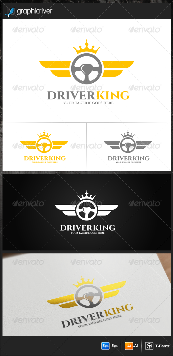 GraphicRiver Driver King Logo Templates 7703143