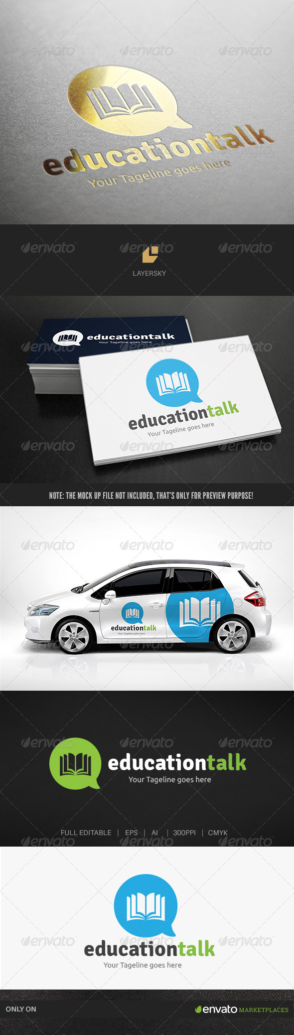 Education Talk - Objects Logo Templates