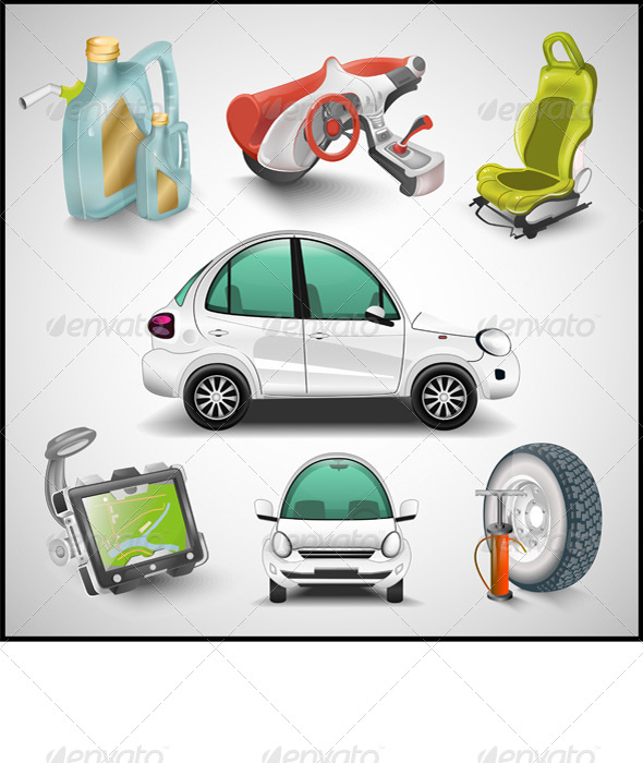 GraphicRiver Car and Accessories 7703166