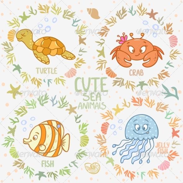 GraphicRiver Sea Animals 7703170