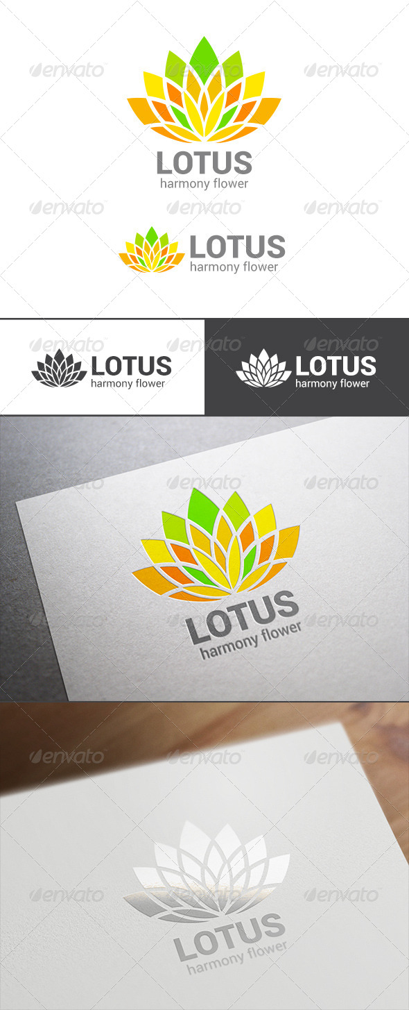 GraphicRiver Abstract Lotus Flower Logo Template 7703416