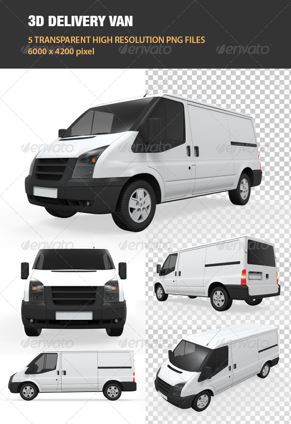 GraphicRiver 3D Delivery Van 7703466