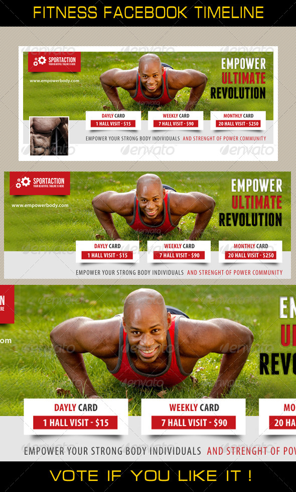 GraphicRiver Fitness Facebook Timeline 04 7703595