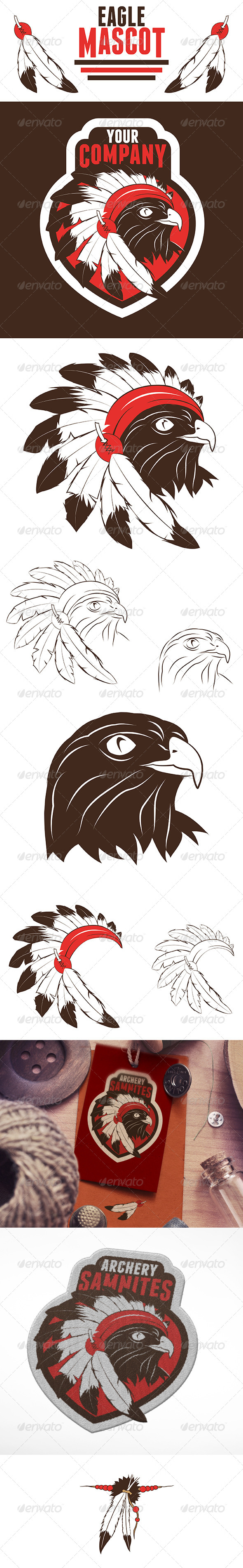 GraphicRiver Eagle Chief Mascot Logo 7703628